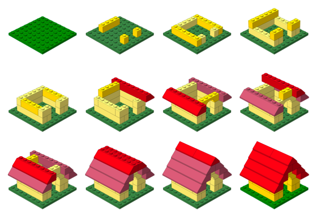 Lego for Building a house step by step