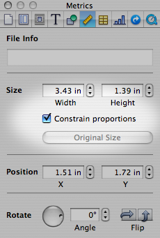 Required Constrain proportions setting