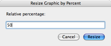 Resize Graphic by Percent dialog