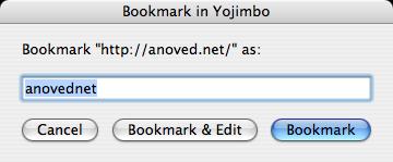 example Bookmark in Yojimbo dialog
