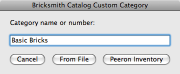 Screenshot: Naming a category to be loaded from a file