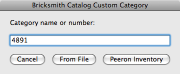 Screenshot: Naming a category based on a Peeron inventory