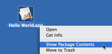 Show Package Contents contextual menu