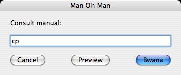 Man oh Man dialog screenshot