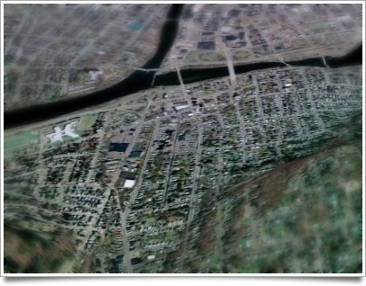 Binghamton's South Side as viewed from Google Earth.