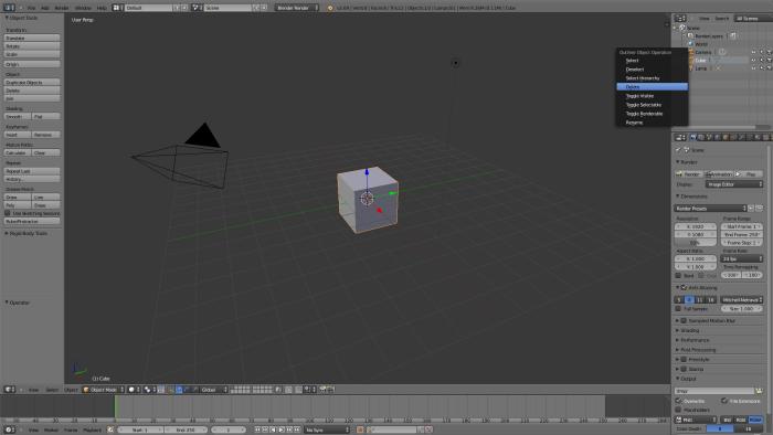 2 delete cube
