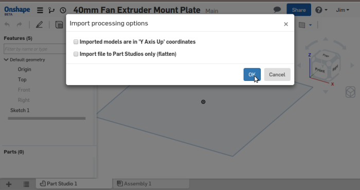 Screenshot-40mm Fan Extruder Mount Plate - Onshape - Google Chrome-1
