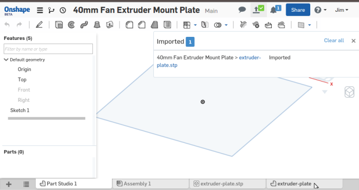 Screenshot-40mm Fan Extruder Mount Plate - Onshape - Google Chrome-2