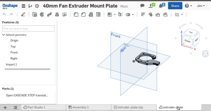 Screenshot-40mm Fan Extruder Mount Plate - Onshape - Google Chrome-3