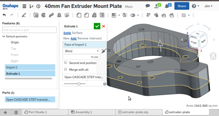 Screenshot-40mm Fan Extruder Mount Plate - Onshape - Google Chrome-4