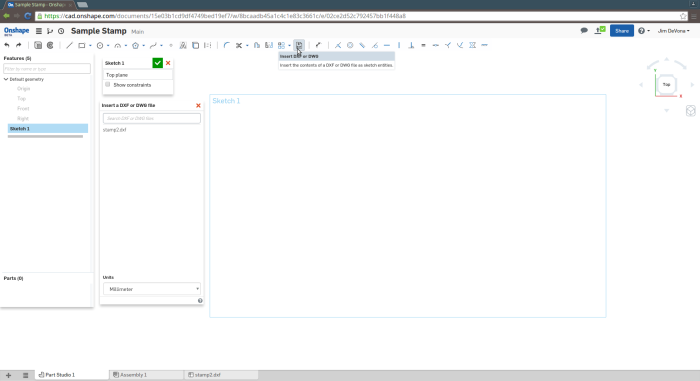 Screenshot-Sample Stamp - Onshape - Google Chrome-1