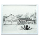 Pen and pencil illustration of a house